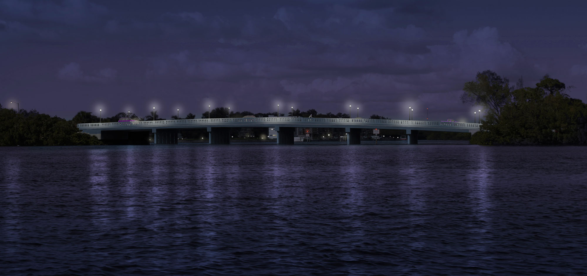 40th Avenue Bridge Night Rendering